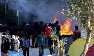 Протесты беженцев-подростков на Лесбосе привели к массовым беспорядкам