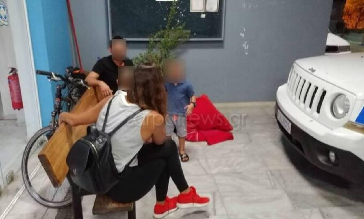 Χανιά: Στο αστυνομικό τμήμα διανυκτερεύει 4μελής οικογένεια - Tους απείλησαν με όπλο