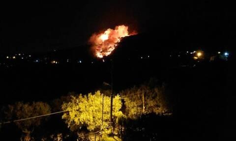 Φωτιά στη Νέα Μάκρη: Ενισχύθηκαν οι πυροσβεστικές δυνάμεις