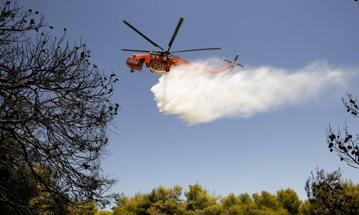 Φωτιά Νέα Μάκρη: Τη «χτυπούν» τα εναέρια μέσα – Πόρτα - πόρτα ενημέρωσαν τους κατοίκους
