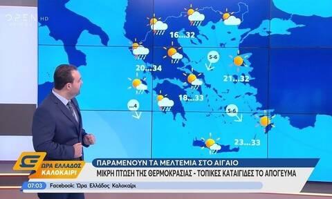Καιρός: Αλλαγή καιρικών συνθηκών - Πού θα βρέξει τις επόμενες ώρες; (video)