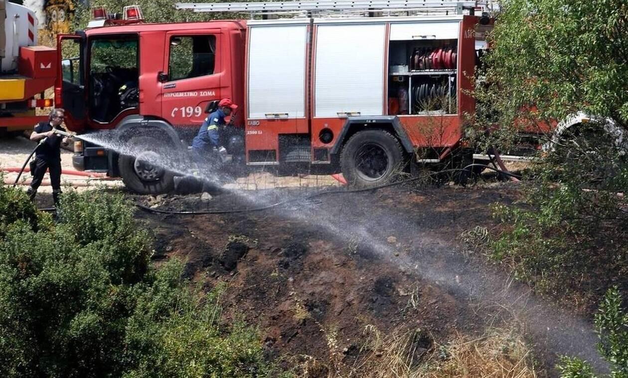 Wildfire on the island of Zakynthos