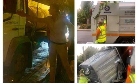 Κώστας Μπακογιάννης: Ξεκίνησε το συστηματικό πλύσιμο των κάδων του Δήμου Αθηναίων (pics)