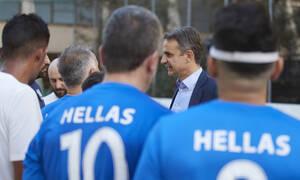 ΔΕΘ 2019: Με την εθνική ομάδα ποδοσφαίρου τυφλών ο Κυριάκος Μητσοτάκης