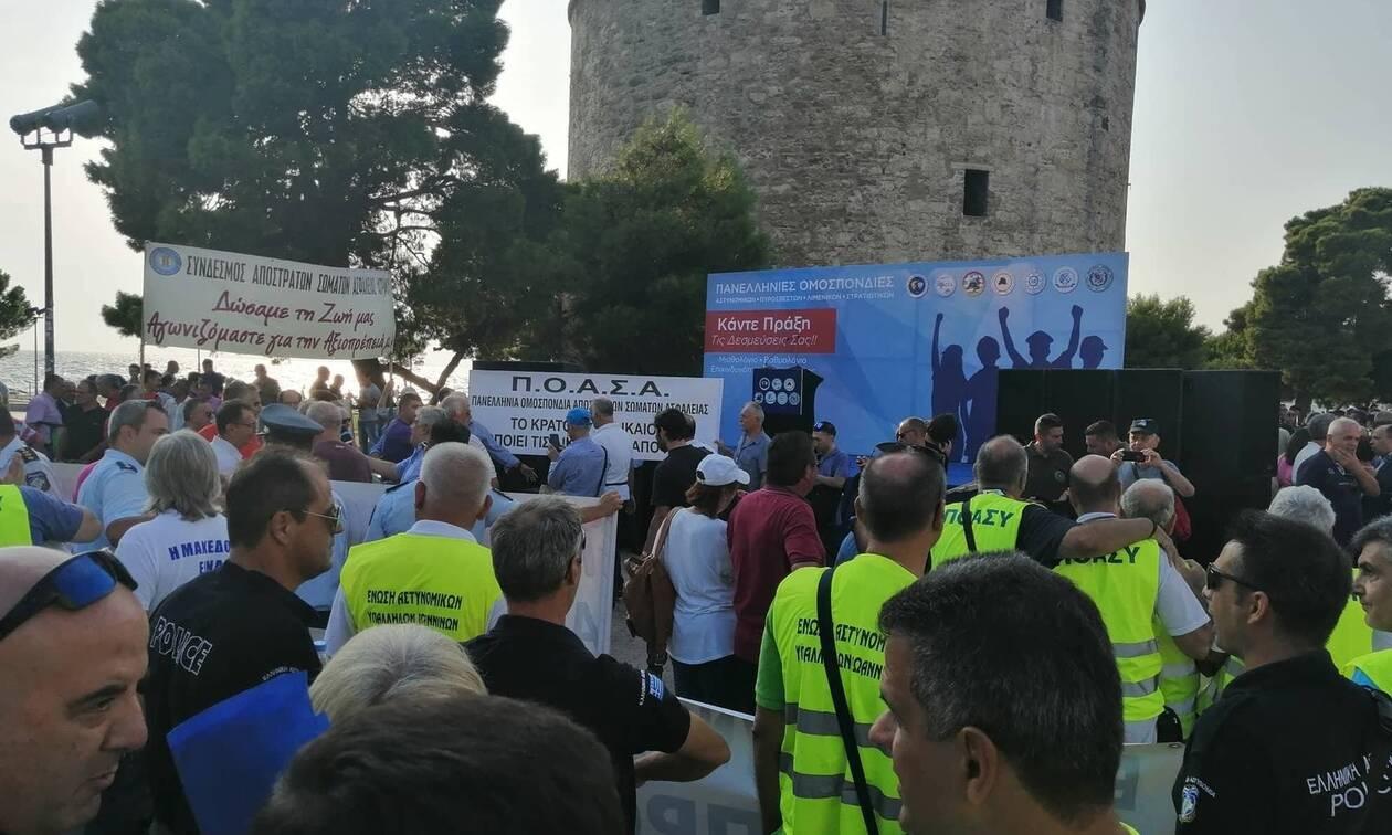 ΔΕΘ 2019: Οι ένστολοι «εγκαινίασαν» τα συλλαλητήρια