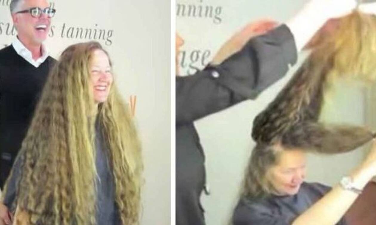 Βίντεο: Μάκραινε τα μαλλιά της για 20 χρόνια συνεχώς - Δείτε τι έγινε όταν τα έκοψε!