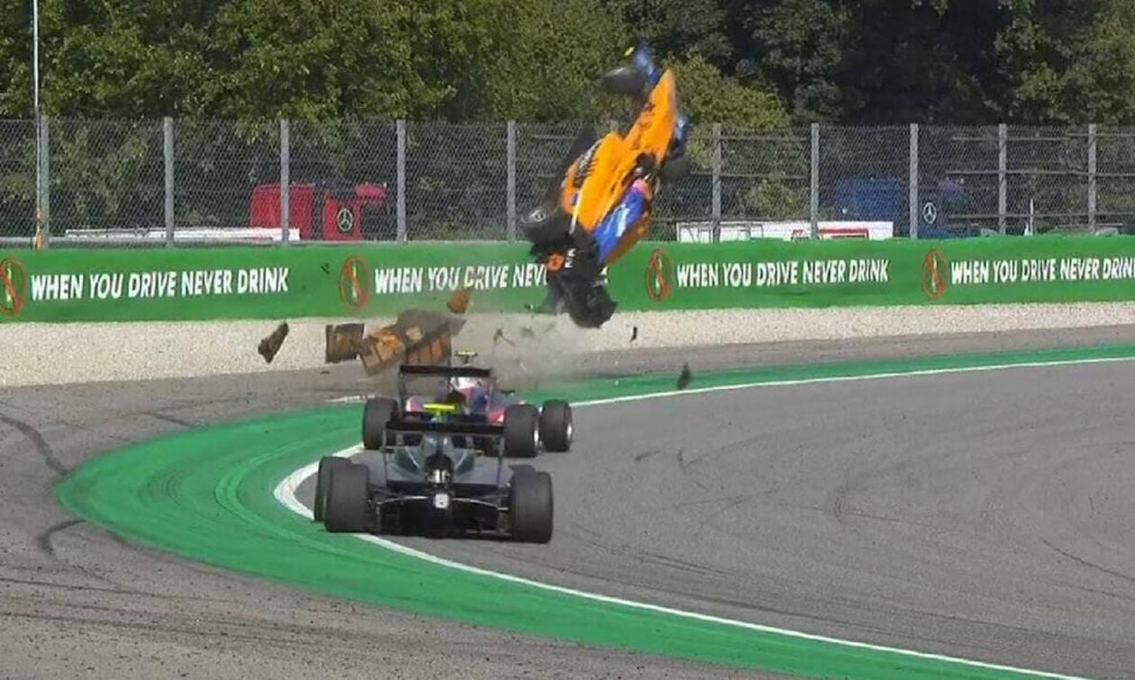 Σοκαριστικό ατύχημα στη Formula 3 με... απογείωση μονοθεσίου (video)
