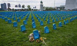 ΟΗΕ: Έστησαν 3.758 σχολικές τσάντες για κάθε παιδί που χάθηκε στον πόλεμο το 2018 (pics)