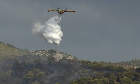 Φωτιά Μυτιλήνη: Υπό μερικό έλεγχο η πυρκαγιά
