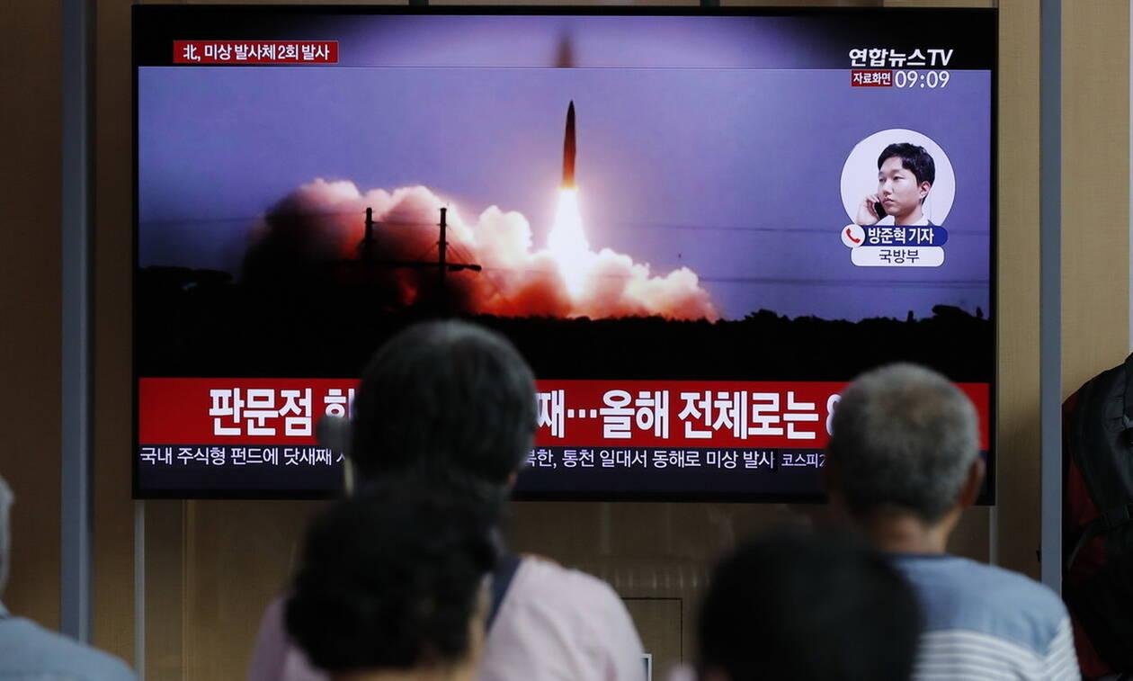 Η Βόρεια Κορέα εκτόξευσε δύο «άγνωστου τύπου» πυραύλους
