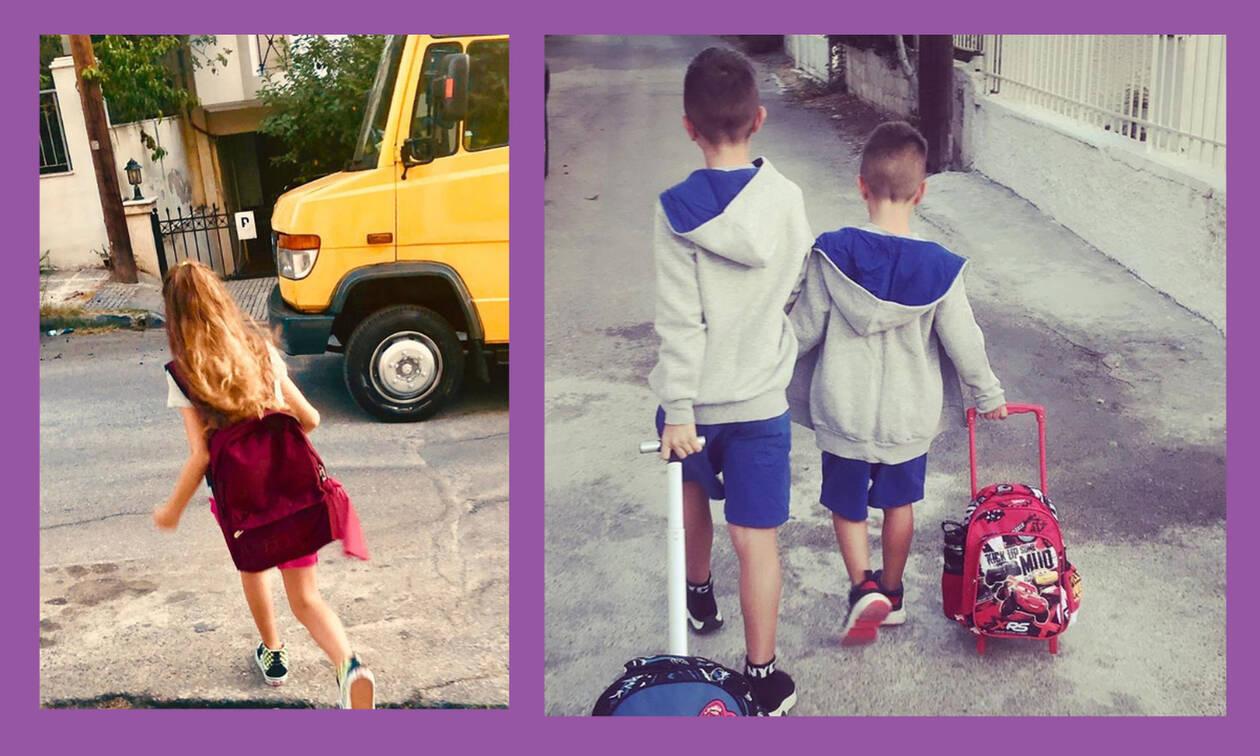 #backtoschool-Tι ανέβασαν οι διάσημοι γονείς από την πρώτη μέρα των παιδιών τους στο σχολείο (pics)