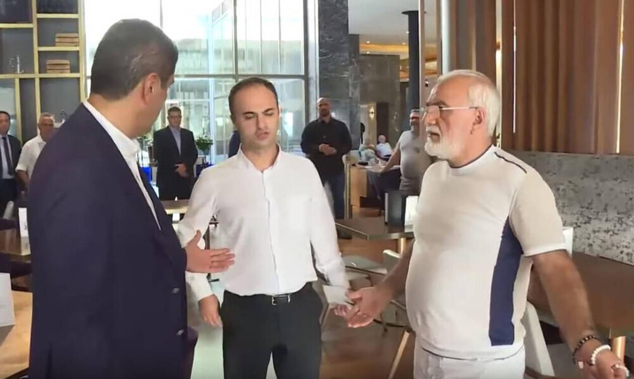 ΠΑΟΚ: Ο εκνευρισμός του Ιβάν Σαββίδη στη συνάντηση με τον Αυγενάκη (video)