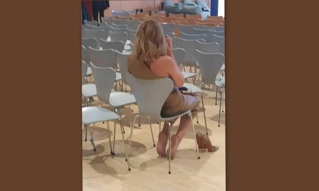 Υπέφερε και πέταξε τα τακούνια της μετά το τέλος της παρουσίασης προγράμματος του ΣΚΑΙ (exclusive)