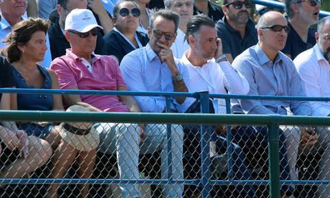 Στο Davis Cup ο Κυριακός Μητσοτάκης για να παρακολουθήσει τον Στέφανο Τσιτσιπά