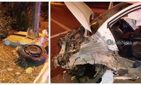 Τρομακτικό τροχαίο στην Κρήτη – Απίστευτο το πώς γλίτωσε ο οδηγός (pics)