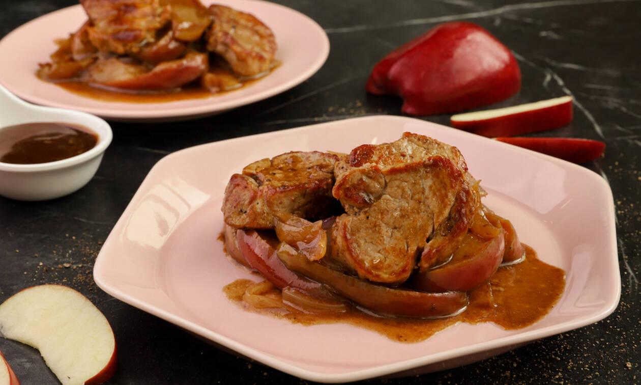 Η συνταγή της ημέρας: Ψαρονέφρι με μήλα και κρεμμύδια