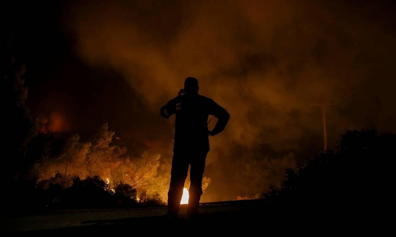 Πυρκαγιές στον Λαγκαδά Θεσσαλονίκης και στην Περαχώρα Λουτρακίου