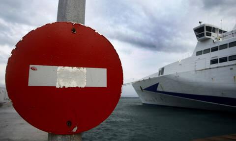 Καιρός: Απαγορευτικό απόπλου - Δεμένα τα πλοία στα λιμάνια