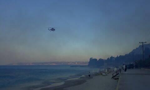 Φωτιά στην Κεφαλονιά: Υπό μερικό έλεγχο η πυρκαγιά (pics&vids)