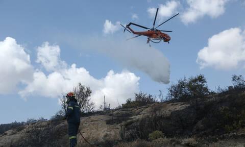 Φωτιά στο Λαύριο: Υπό έλεγχο η πυρκαγιά