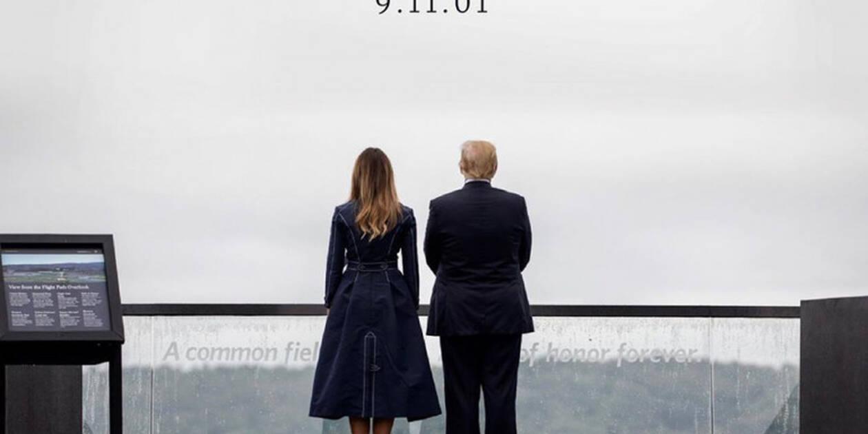 Μελάνια Τραμπ: Σάλος με το παλτό που φόρεσε για την 11η Σεπτεμβρίου