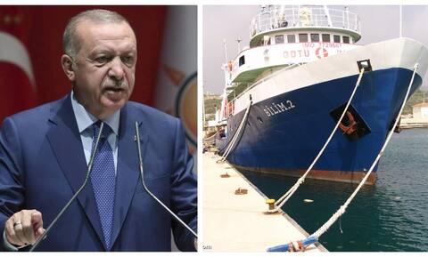 Το 'πε και το έκανε ο «Σουλτάνος»: Ανοιχτά του Καστελόριζου το ερευνητικό πλοίο Bilim 2