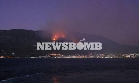 Φωτιά ΤΩΡΑ: Πύρινος εφιάλτης στο Λουτράκι – Ολονύχτια μάχη με τις φλόγες