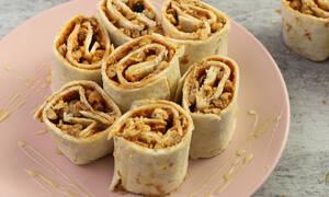 Η συνταγή της ημέρας: Ρολάκια με φυστικοβούτυρο