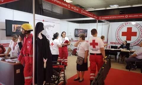 Εντυπωσιακό το περίπτερό του Ερυθρού Σταυρού στην 84η ΔΕΘ