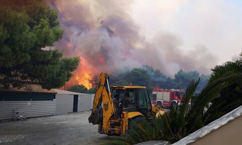 Φωτιά Ζάκυνθος: Ώρες αγωνίας - Πάνω από 10 χλμ το πύρινο μέτωπο - Ελπίζουν σε πτώση του αέρα