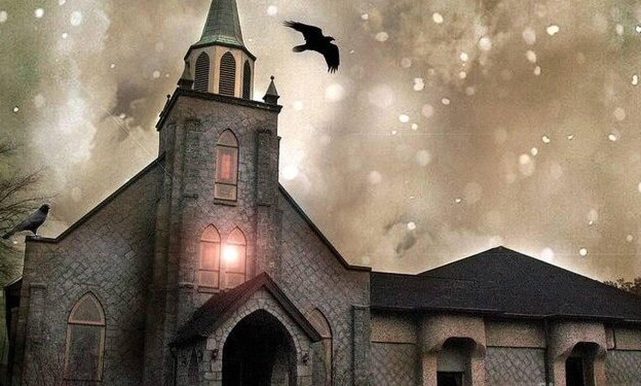 Ανατριχίλα! Φάντασμα καλόγριας έξω από εκκλησία - Αντέχετε να το δείτε;