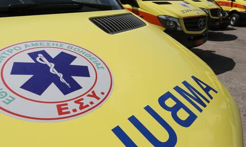 Λαμία: Τροχαίο με δύο τραυματίες (pics)