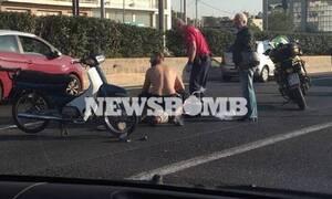 Χάος στην Αθηνών - Λαμίας: Ουρές χιλιομέτρων λόγω τροχαίου (pics)