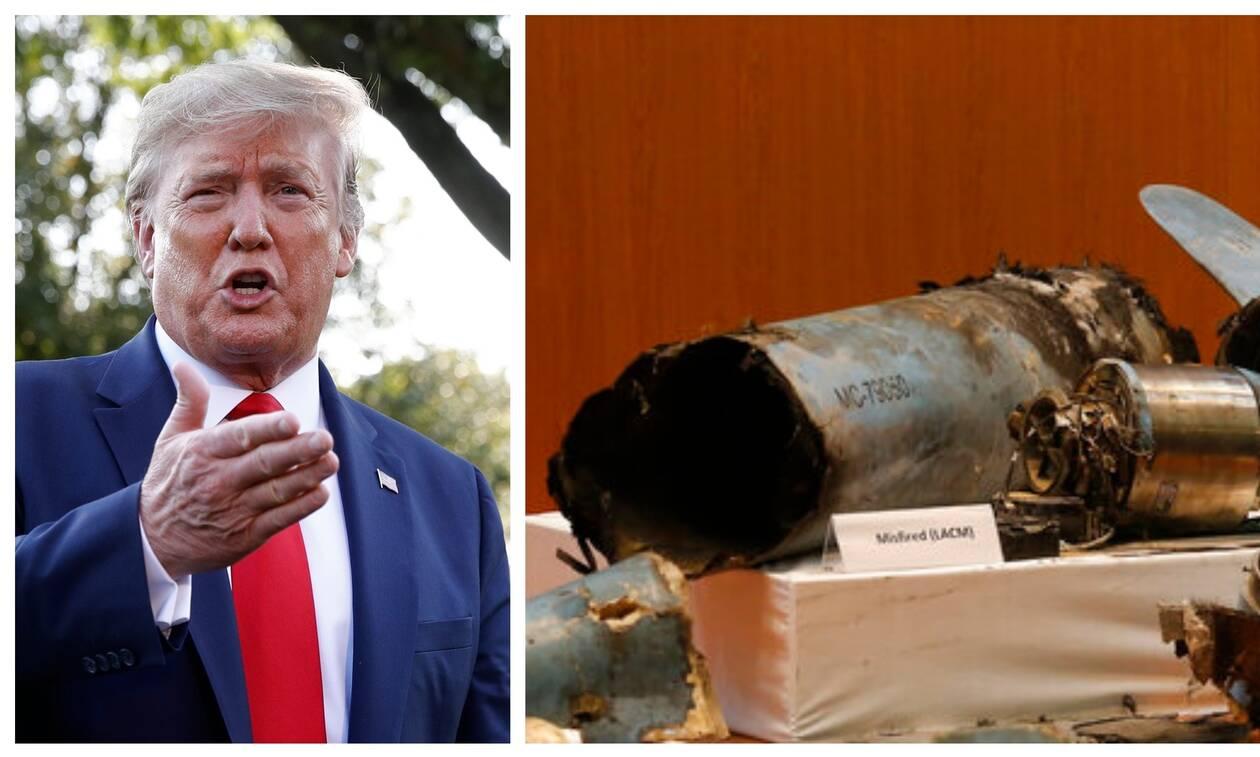 «Τορπίλη» Τραμπ: «Η έσχατη επιλογή είναι να πάμε σε πόλεμο με το Ιράν»