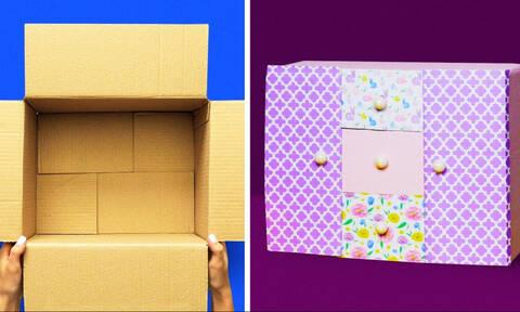 Τι μπορείτε να φτιάξετε με ένα κουτί; Ούτε που φαντάζεστε (vid)