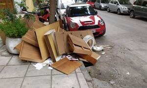 Θεσσαλονίκη: Απέραντη χωματερή οι δρόμοι - Σοκαριστικές εικόνες