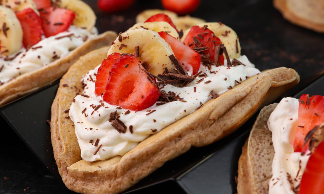 Η συνταγή της ημέρας: Pancakes ολικής με φρούτα