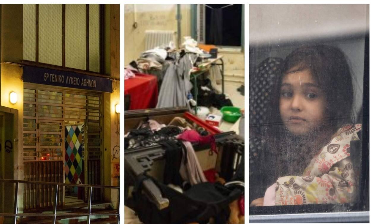 Εξάρχεια: Πώς ζούσαν 130 πρόσφυγες στο υπό κατάληψη κτήριο – Αποκαλυπτικές εικόνες