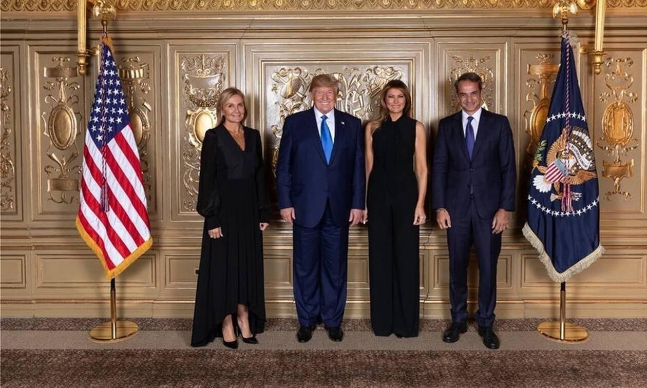 Νέα Υόρκη: Η συνάντηση του ζεύγους Μητσοτάκη με το ζεύγος Τραμπ