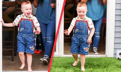 Αγοράκι παίζει έξω από το σπίτι για πρώτη φορά στα 4α γενέθλιά του - Η αντίδρασή του (vid)
