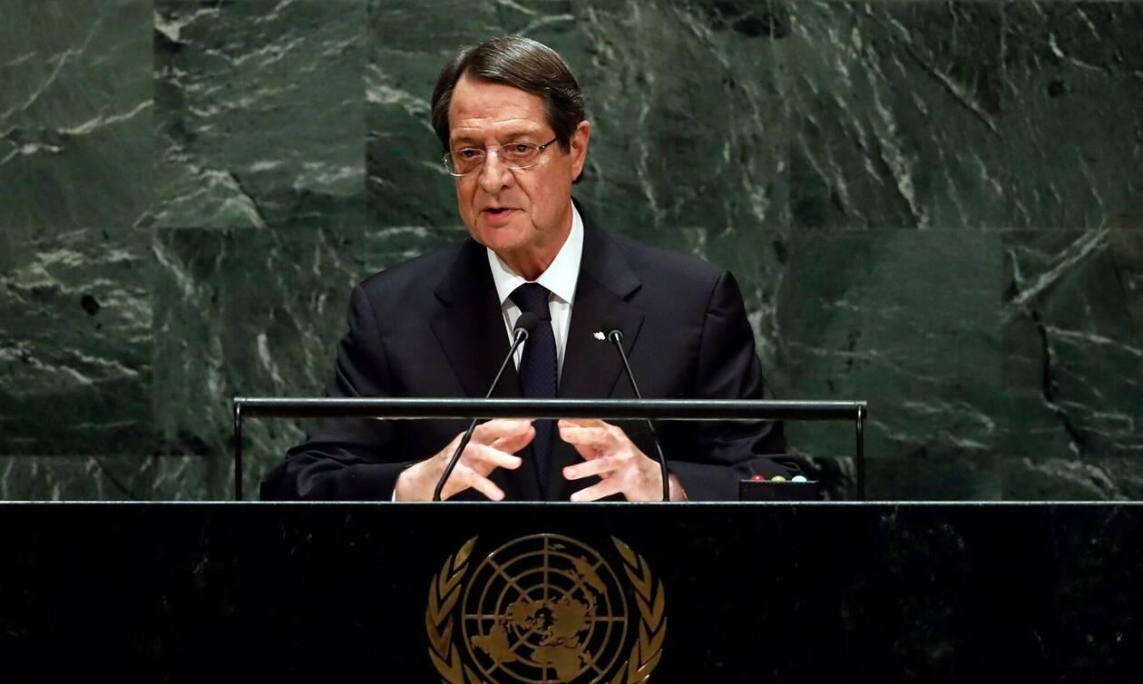 Μήνυμα Αναστασιάδη από ΟΗΕ: «Δεν δέχομαι τις τακτικές εκβιασμού»