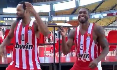 Το ρίξανε στον... χορό στον μπασκετικό Ολυμπιακό!