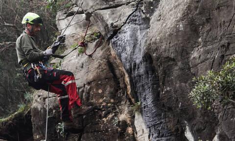 Διάσωση ορειβάτη στον Όλυμπο - Μεταφέρθηκε τραυματισμένος με ελικόπτερο