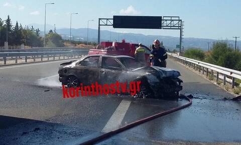 Φονικό τροχαίο στην Εθνική οδό: Ένας νεκρός μέσα σε φλεγόμενο όχημα - Ουρές χιλιομέτρων
