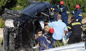 Τραγωδία στην Εθνική Οδό: Σκληρές εικόνες από το φρικτό τροχαίο - Τι λένε αυτόπτες μάρτυρες