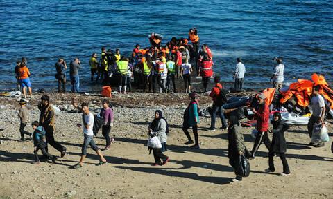 «Απόβαση» μεταναστών στη Μυτιλήνη