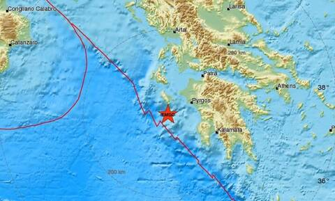 Σεισμός νότια της Ζακύνθου - Αισθητός και στην Ηλεία