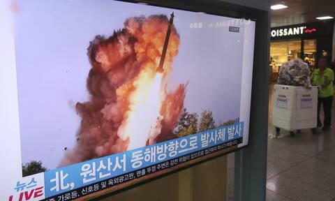 Νέες εκτοξεύσεις πυραύλων από τη Βόρεια Κορέα - Συναγερμός στη θάλασσα της Ιαπωνίας
