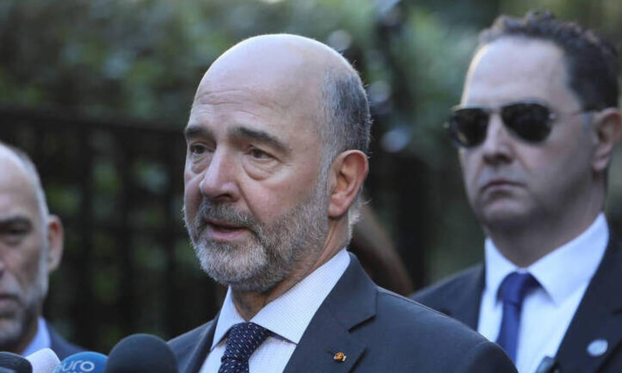 Στην Αθήνα ο Μοσκοβισί: «Θα βρούμε λύσεις για να κλείσει το δημοσιονομικό κενό»