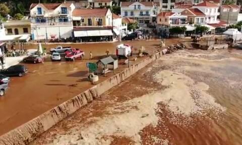 Κακοκαιρία: Η θάλασσα βγήκε στη στεριά σε Κεφαλονιά και Ιθάκη– Καταστροφές και κλειστά σχολεία